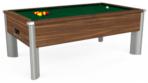 7ft Monarch Fusion Free Play in Dark Walnut with Hainsworth Elite-Pro Spruce cloth