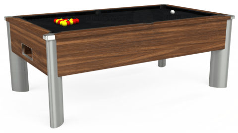 6ft Monarch Fusion Free Play in Dark Walnut with Hainsworth Smart Black cloth