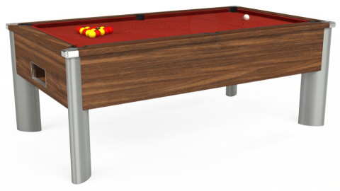 7ft Monarch Fusion Free Play in Dark Walnut with Hainsworth Smart Cherry cloth