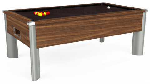 7ft Monarch Fusion Free Play in Dark Walnut with Hainsworth Smart Nutmeg cloth