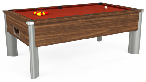 7ft Monarch Fusion Free Play in Dark Walnut with Hainsworth Smart Paprika cloth