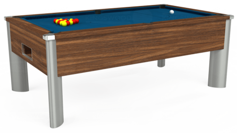 7ft Monarch Fusion Free Play in Dark Walnut with Hainsworth Smart Slate cloth