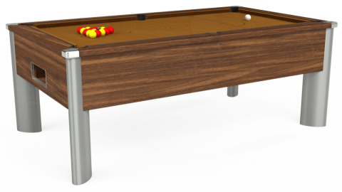 7ft Monarch Fusion Free Play in Dark Walnut with Hainsworth Smart Tan cloth
