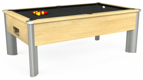 7ft Monarch Fusion Free Play in Light Oak with Standard Black cloth