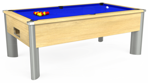 7ft Monarch Fusion Free Play in Light Oak with Standard Blue cloth