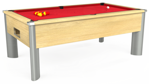 7ft Monarch Fusion Free Play in Light Oak with Standard Red cloth