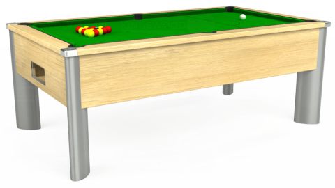 7ft Monarch Fusion Free Play in Light Oak with Standard Green cloth