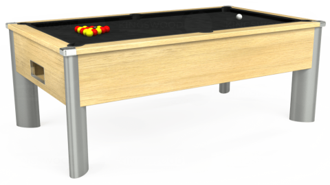 7ft Monarch Fusion Free Play in Light Oak with Hainsworth Elite-Pro Black cloth