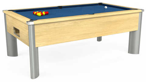 7ft Monarch Fusion Free Play in Light Oak with Hainsworth Elite-Pro Cadet Blue cloth