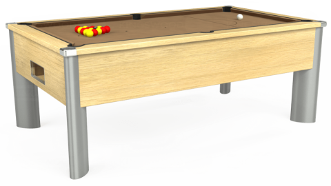 7ft Monarch Fusion Free Play in Light Oak with Hainsworth Elite-Pro Camel cloth