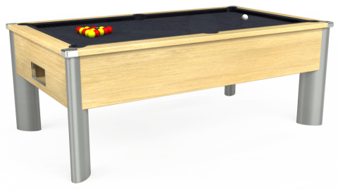 7ft Monarch Fusion Free Play in Light Oak with Hainsworth Elite-Pro Charcoal cloth