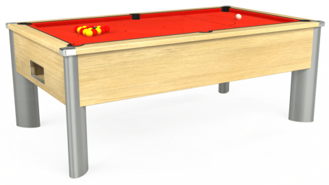 7ft Monarch Fusion Free Play in Light Oak with Hainsworth Elite-Pro Orange cloth