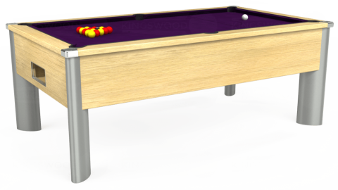 7ft Monarch Fusion Free Play in Light Oak with Hainsworth Elite-Pro Purple cloth