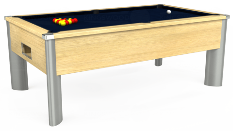 7ft Monarch Fusion Free Play in Light Oak with Hainsworth Smart French Navy cloth