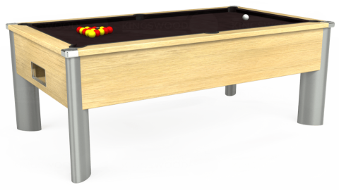 7ft Monarch Fusion Free Play in Light Oak with Hainsworth Smart Nutmeg cloth