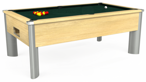 7ft Monarch Fusion Free Play in Light Oak with Hainsworth Smart Ranger Green cloth