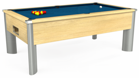 7ft Monarch Fusion Free Play in Light Oak with Hainsworth Smart Slate cloth