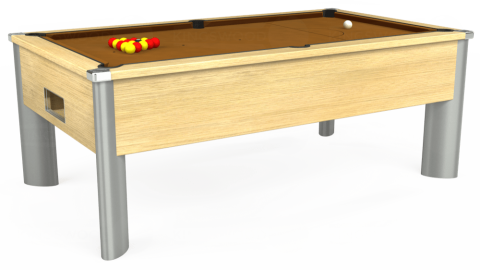 7ft Monarch Fusion Free Play in Light Oak with Hainsworth Smart Tan cloth