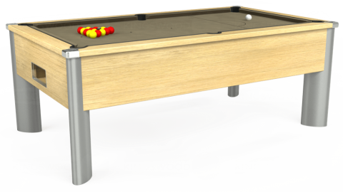 7ft Monarch Fusion Free Play in Light Oak with Hainsworth Smart Taupe cloth