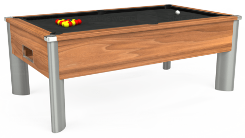 7ft Monarch Fusion Free Play in Light Walnut with Standard Black cloth