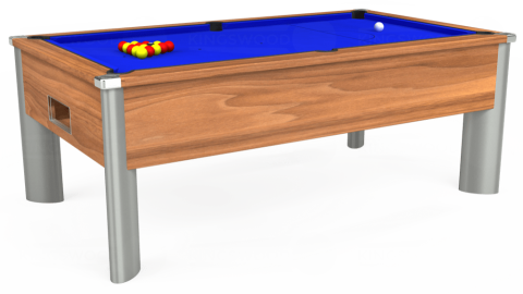 7ft Monarch Fusion Free Play in Light Walnut with Standard Blue cloth