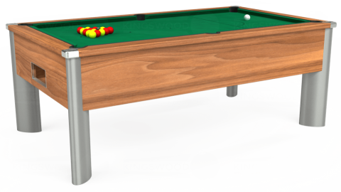 7ft Monarch Fusion Free Play in Light Walnut with Hainsworth Elite-Pro American Green cloth
