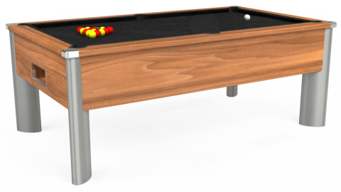 6ft Monarch Fusion Free Play in Light Walnut with Hainsworth Elite-Pro Black cloth