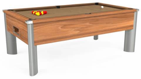 7ft Monarch Fusion Free Play in Light Walnut with Hainsworth Elite-Pro Camel cloth