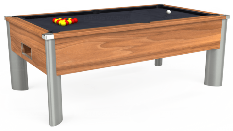 7ft Monarch Fusion Free Play in Light Walnut with Hainsworth Elite-Pro Charcoal cloth
