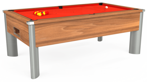 7ft Monarch Fusion Free Play in Light Walnut with Hainsworth Elite-Pro Orange cloth