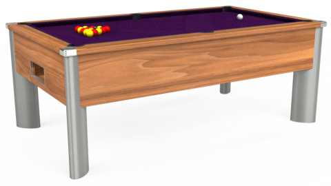 7ft Monarch Fusion Free Play in Light Walnut with Hainsworth Elite-Pro Purple cloth