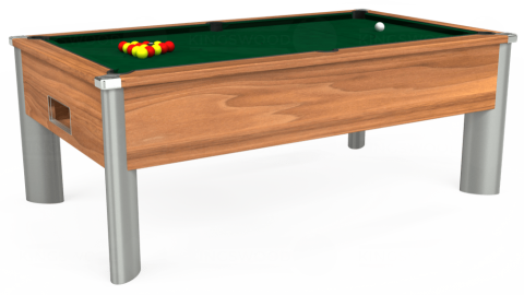 7ft Monarch Fusion Free Play in Light Walnut with Hainsworth Elite-Pro Spruce cloth