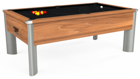7ft Monarch Fusion Free Play in Light Walnut with Hainsworth Smart Black cloth
