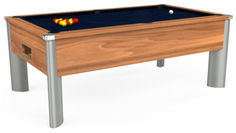 6ft Monarch Fusion Free Play in Light Walnut with Hainsworth Smart French Navy cloth