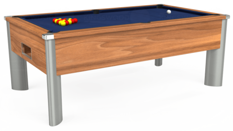 6ft Monarch Fusion Free Play in Light Walnut with Hainsworth Smart Royal Navy cloth
