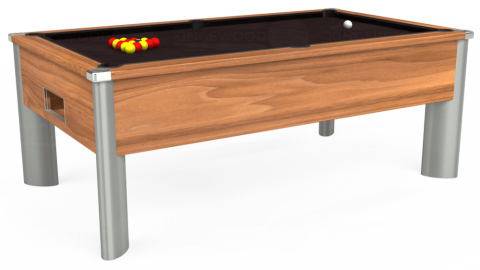 7ft Monarch Fusion Free Play in Light Walnut with Hainsworth Smart Nutmeg cloth