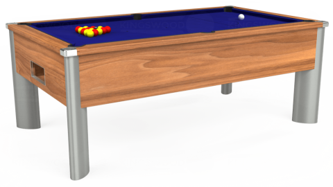 7ft Monarch Fusion Free Play in Light Walnut with Hainsworth Smart Royal Blue cloth
