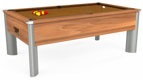 7ft Monarch Fusion Free Play in Light Walnut with Hainsworth Smart Tan cloth
