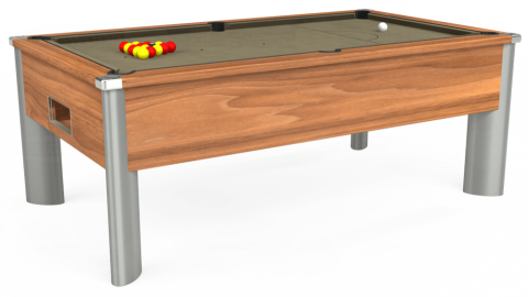 6ft Monarch Fusion Free Play in Light Walnut with Hainsworth Smart Taupe cloth