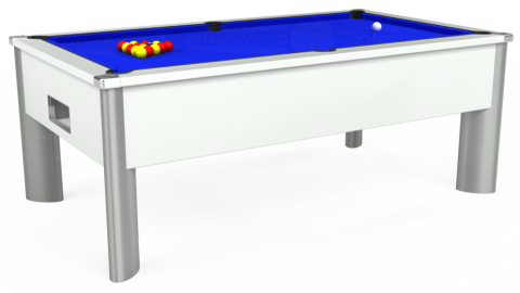 7ft Monarch Fusion Free Play in White with Standard Blue cloth