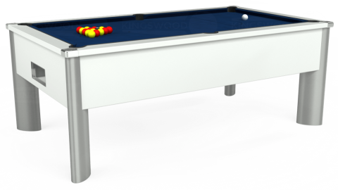 7ft Monarch Fusion Free Play in White with Hainsworth Elite-Pro Marine Blue cloth