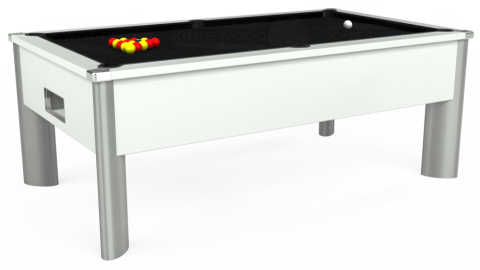 6ft Monarch Fusion Free Play in White with Hainsworth Smart Black cloth