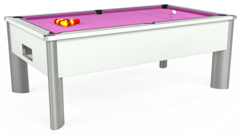 7ft Monarch Fusion Free Play in White with Hainsworth Smart Pink cloth