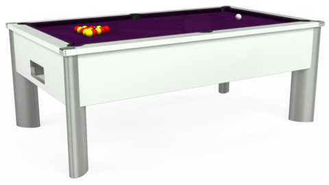7ft Monarch Fusion Free Play in White with Hainsworth Smart Purple cloth