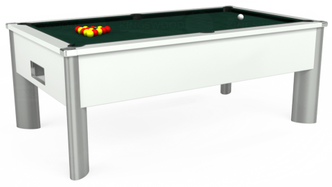 7ft Monarch Fusion Free Play in White with Hainsworth Smart Ranger Green cloth