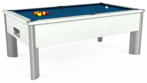 7ft Monarch Fusion Free Play in White with Hainsworth Smart Slate cloth