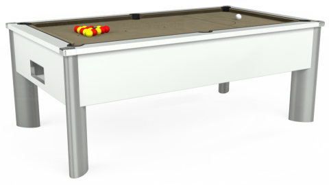 7ft Monarch Fusion Free Play in White with Hainsworth Smart Taupe cloth
