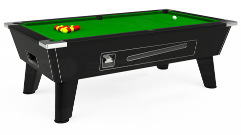 7ft Omega Coin Operated in Black with Standard Green cloth