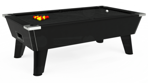 7ft Omega Free Play in Black with Hainsworth Elite-Pro Black cloth