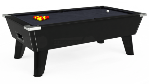 7ft Omega Free Play in Black with Hainsworth Elite-Pro Charcoal cloth